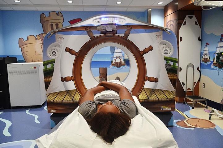 El Hospital que crean un ambiente de juego para los niños