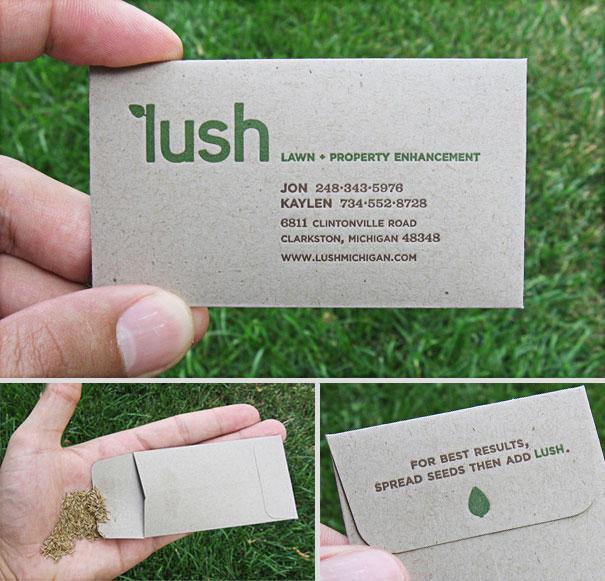 tarjeta de empresa de semillas