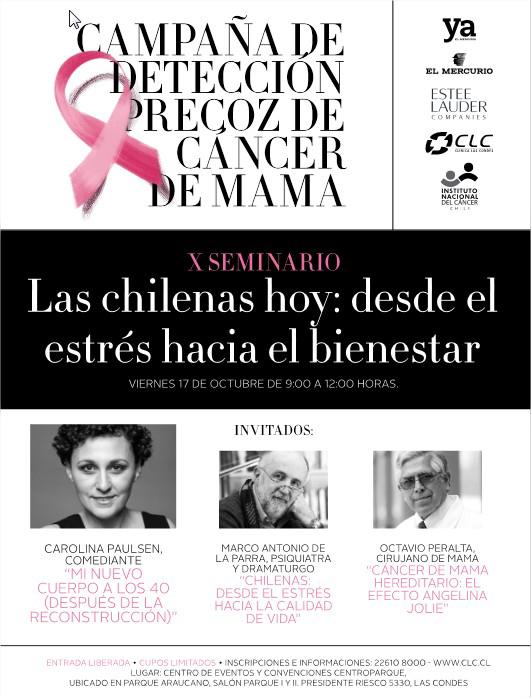 """X Seminario """"Las chilenas hoy, desde el estrés hacia el bienestar"""""""