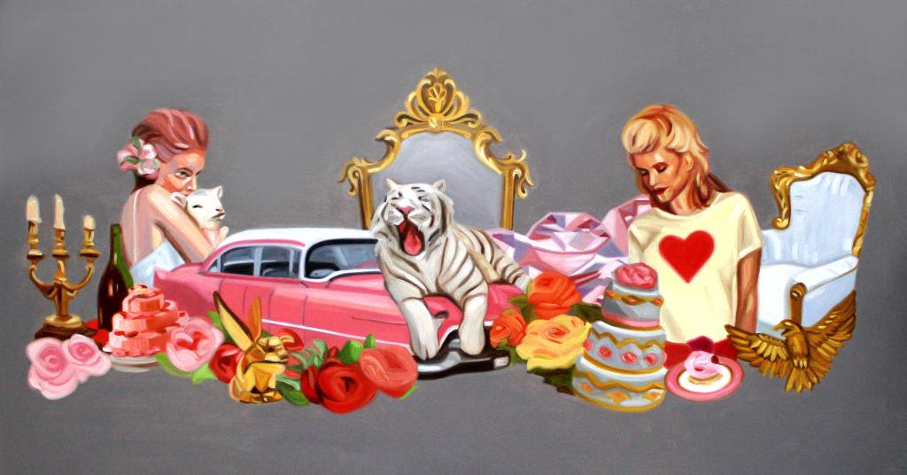 Constanza ragal - La vie en rose- Oleo sobre tela-2014