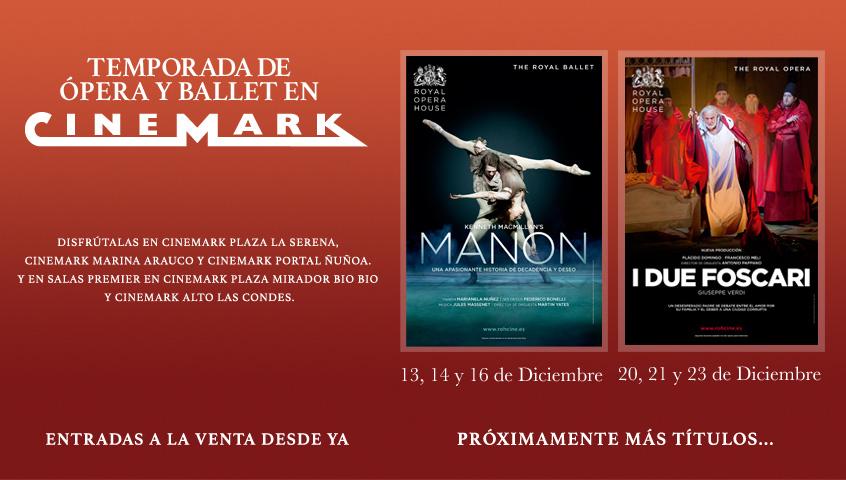 Temporada de Ópera y Ballet en Cinemark