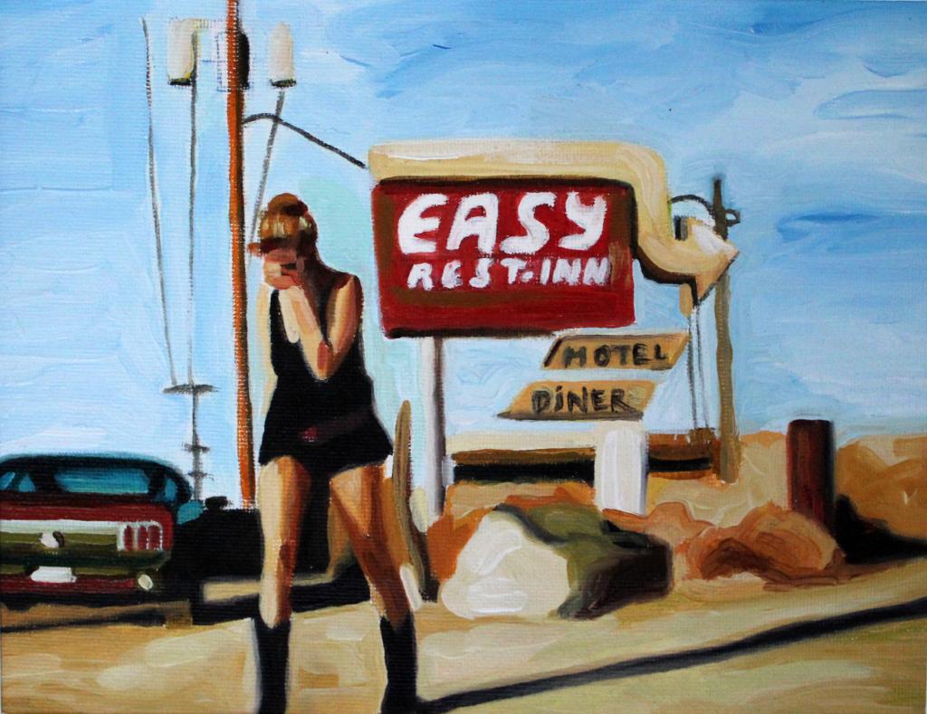 Easy rest inn - oleo sobre tela - 20 x 25 cm- 2014 2