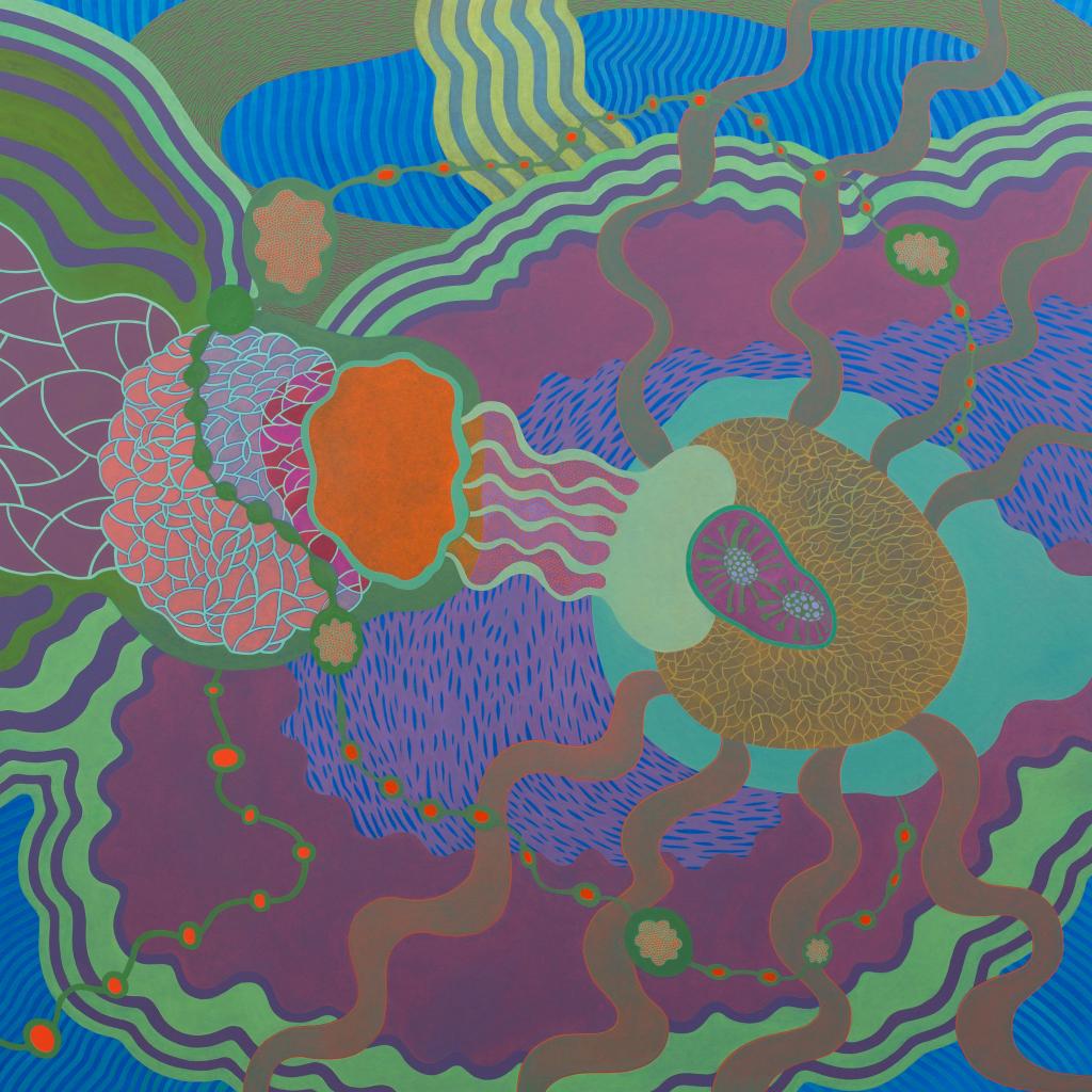 Oleo-tela 130x130 cm. Paula Dünner 2014