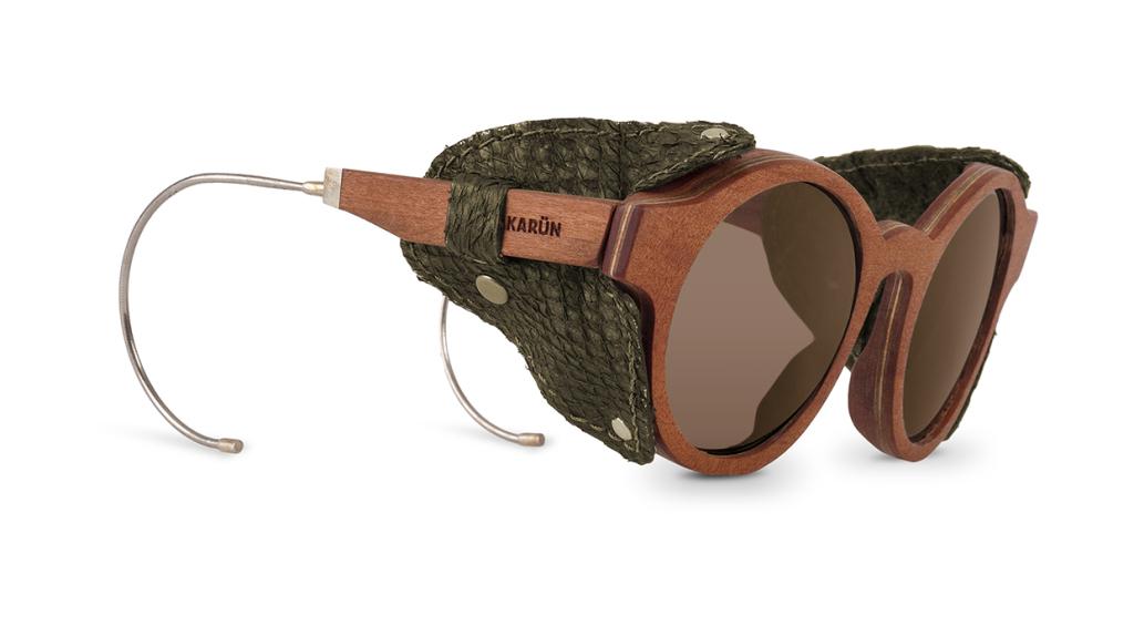 Patagonia karun sunglasses wood eyewear chile - Green leather CAP