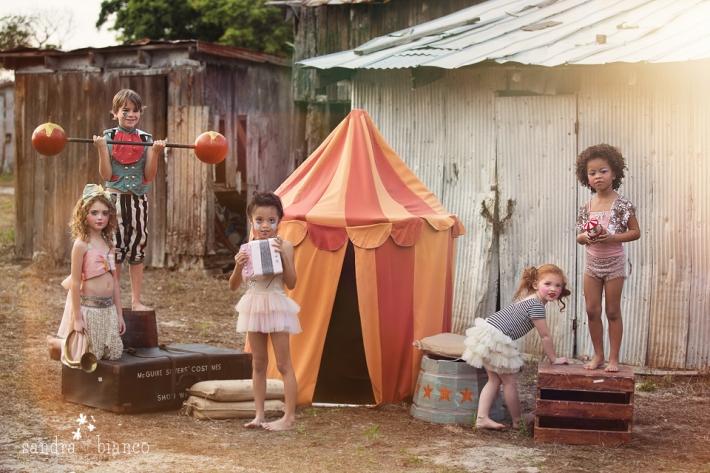 La magia del fantástico circo Vintage de los niños