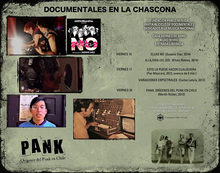 Documentales musicales en La Chascona