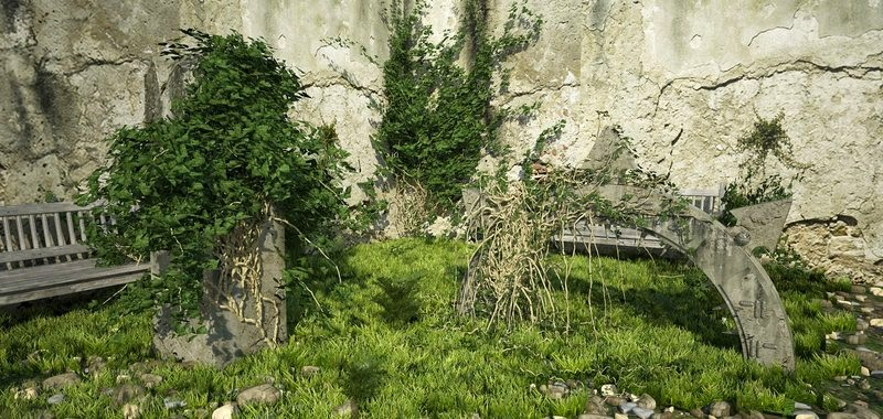 jardin abandonado