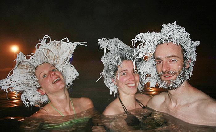 Loco concurso de peinados congelados en Canadá
