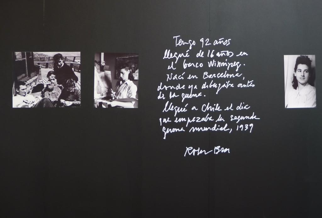 espacio especial dedicado a la artista Catalan roser bru 1