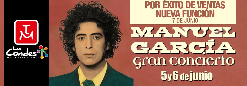 Manuel García suma Nueva Fecha en el Teatro Municipal de Las Condes