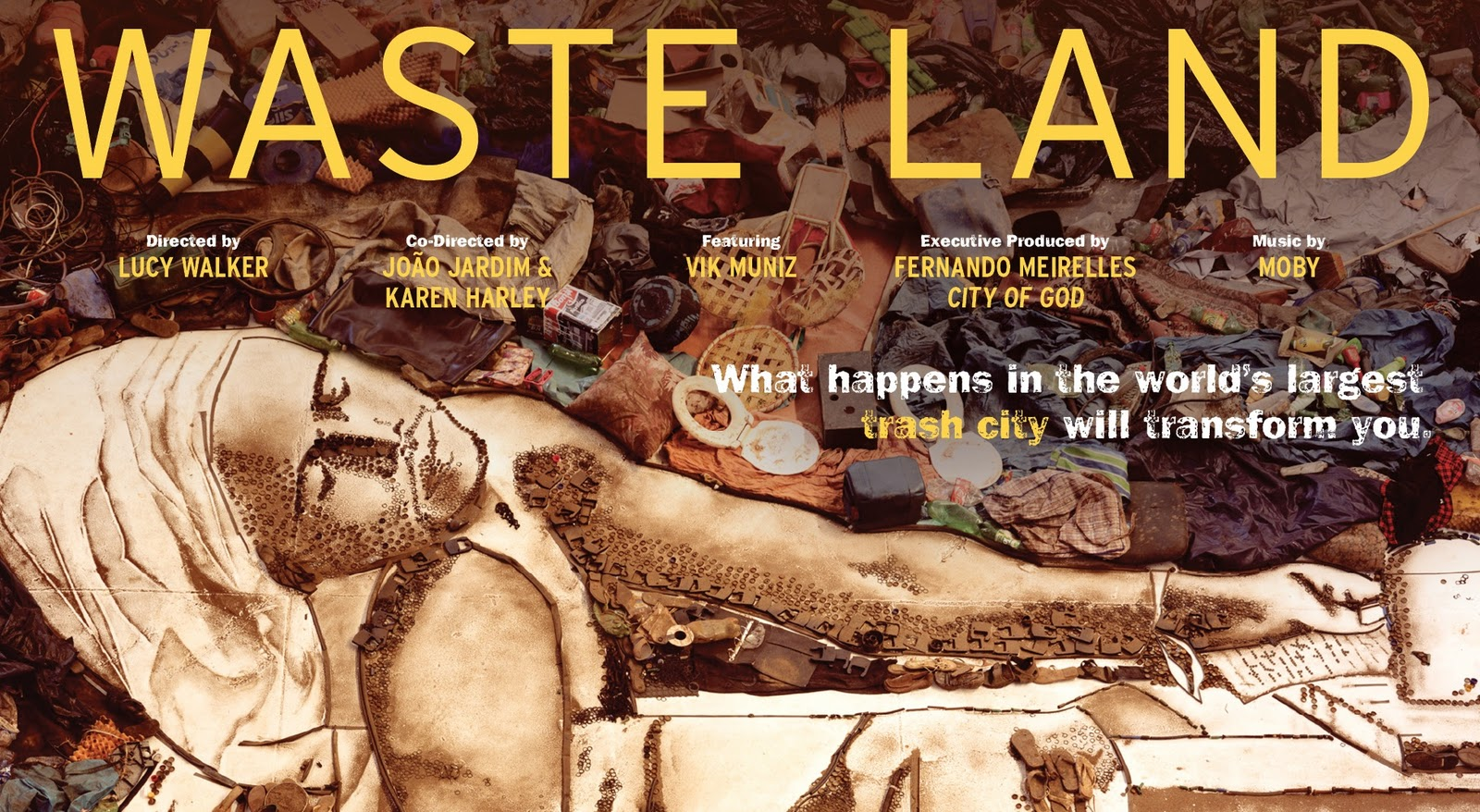 """Wasted Land""  documental de Vik Muniz el artista que transforma la basura en arte."
