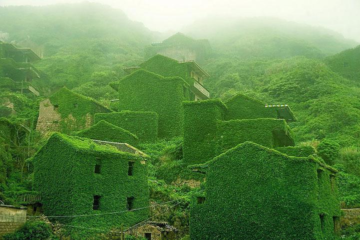 Pueblo abandonado en China fue vestido por capas naturales