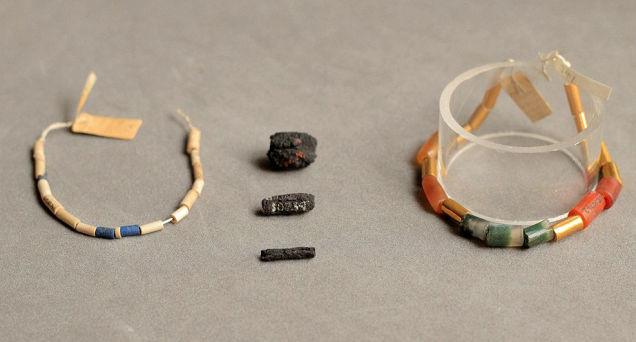 Egipcios hicieron collares con hierro que vino del espacio