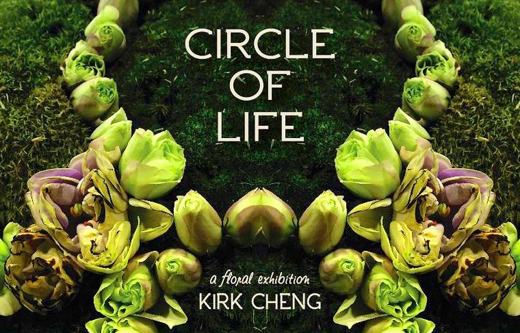 «The Circle of Life» instalación floral que reflexiona acerca de las etapas de la vida