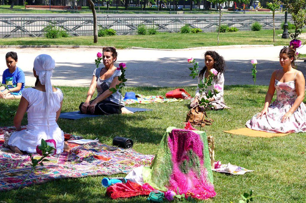 «La sociedad florece» intervención festival 100 en un día