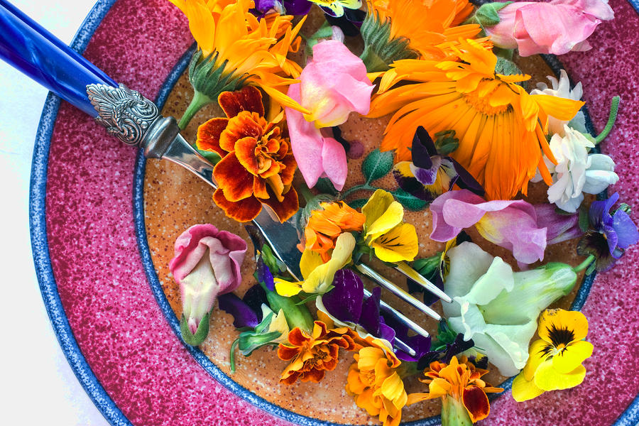 Flores comestibles un aporte bello y elegante al arte culinario