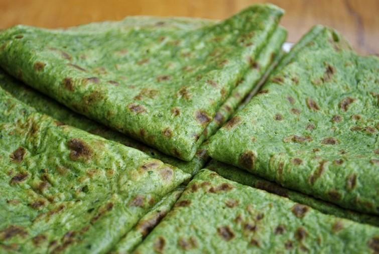 Panqueques de espinacas sin harina
