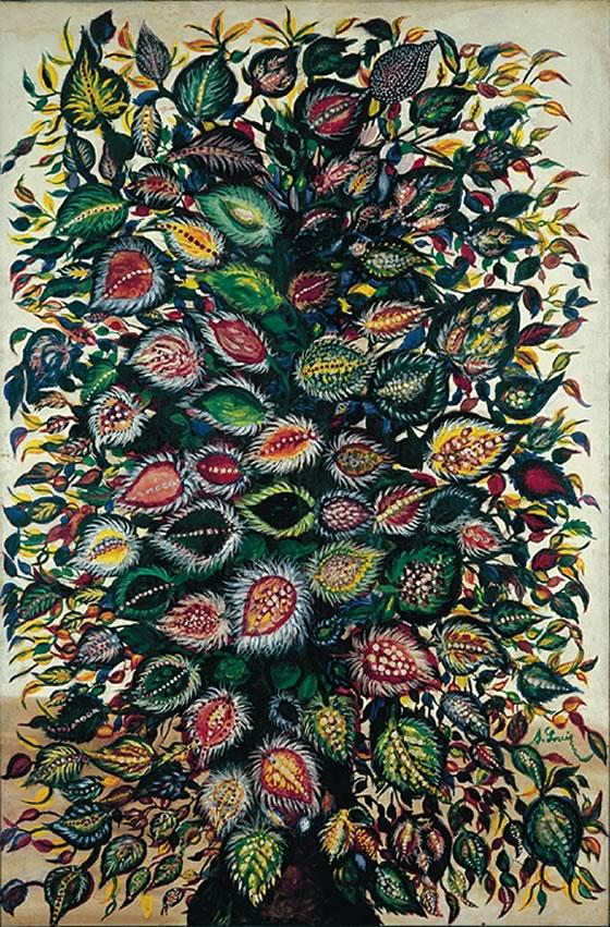 SERAPHINE LOUIS – Feuilles (1928.1929) 1920 © Adagp, Paris 2008 Collection Dina Vierny