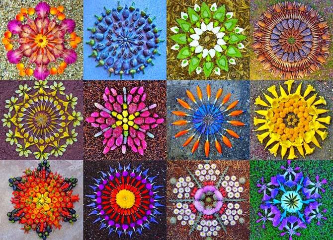 La mágia y belleza de los  mándalas florales de Kathy Klein