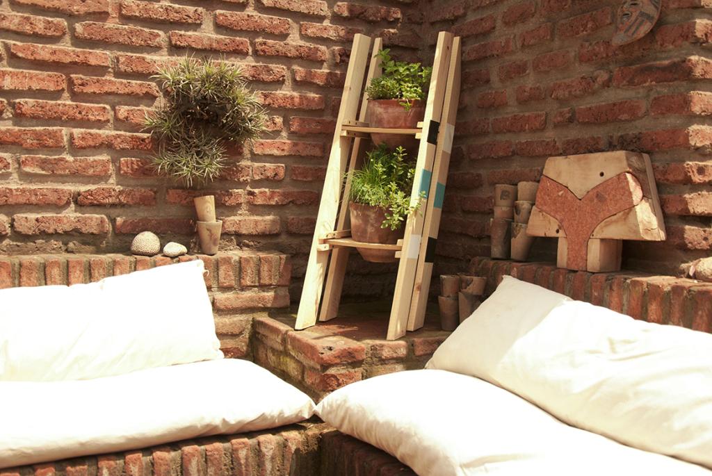 Escalera y herbarios