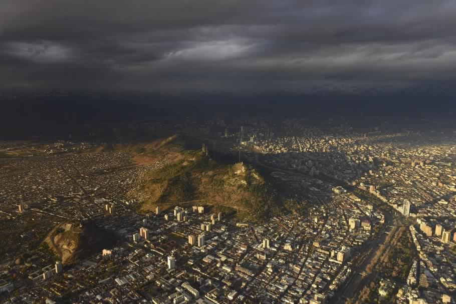 """""""Santiago desde el Aire"""" imágenes muestran Santiago como nunca antes lo viste, por el fotógrafo Guy Wenborne"""