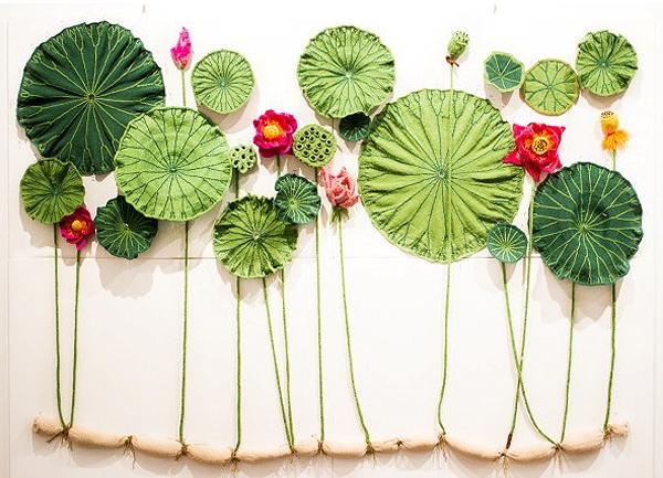 The Kint Garden, las flores tejidas de las artista Tatyana Yanishevsky