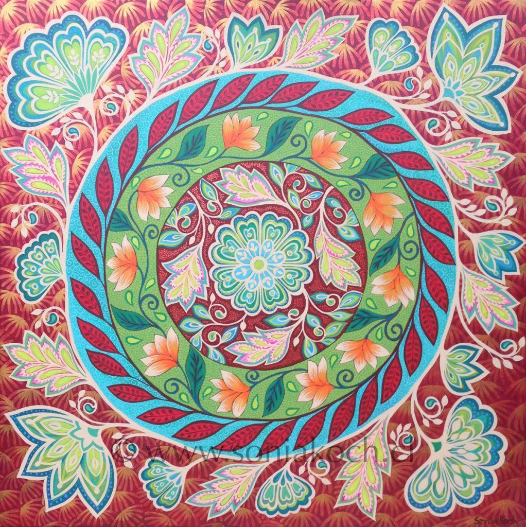 Pinturas de Mándalas Florales