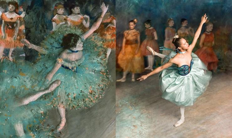 Bailarina recrea las Pinturas de Degas