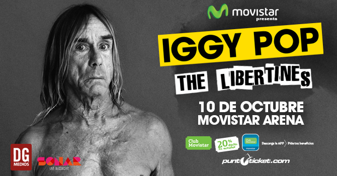 Iggy Pop y The Libertines por primera vez en Chile