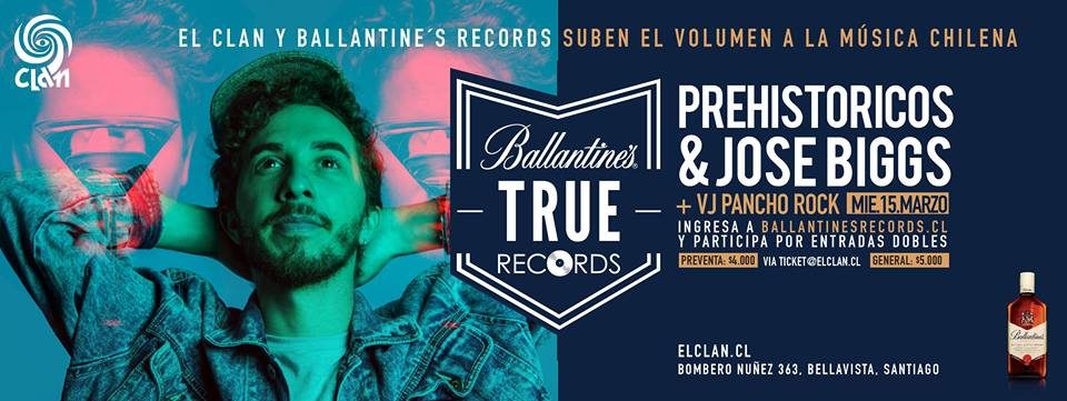 Ciclo Ballantines Records: Prehistöricos + Jose Biggs en El Clan
