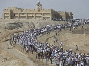 Hundreds of women from the 'Women Wage Peace' movement take part in a march in support of peace at the Baptismal Site of Qasr al Yahud, near the West Bank city of Jericho, October 19, 2016. Photo by Flash90 *** Local Caption *** ???? ????? ???? ????? ???? ?????? ???? ????????? ???????