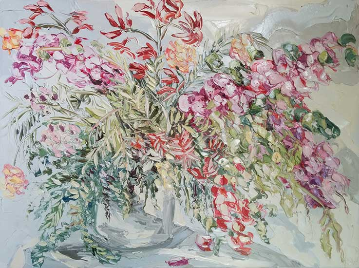 018.SALLY-WEST-Sydenham-Road-Flowers-In-A-Bucket-90-x-120cm-oil-on-canvas