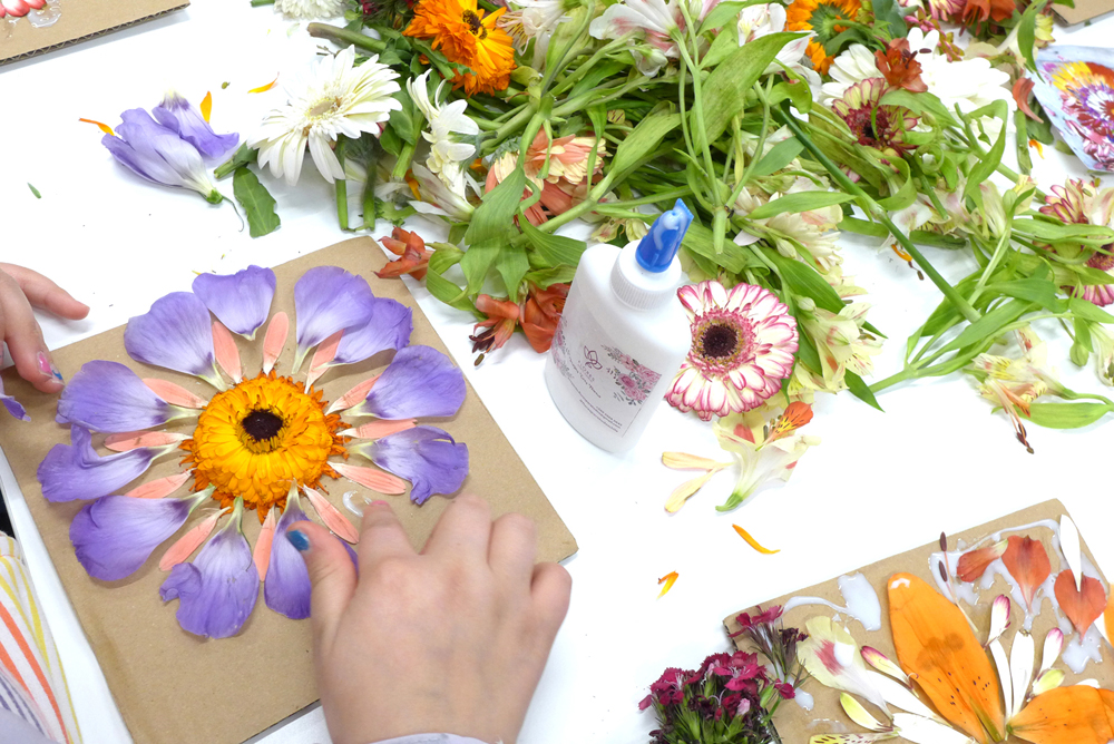 Primeros talleres de Mandalas de Flores con «Flores para Todos»