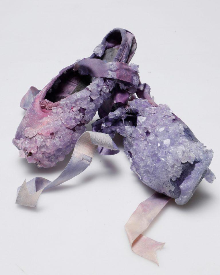 Zapatillas de punta de ballet cristalizadas de Alice Potts