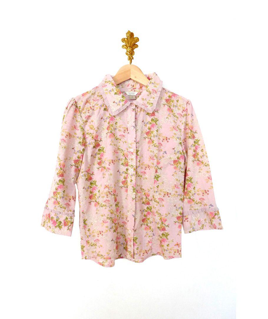 Blusa Flores Manga Larga