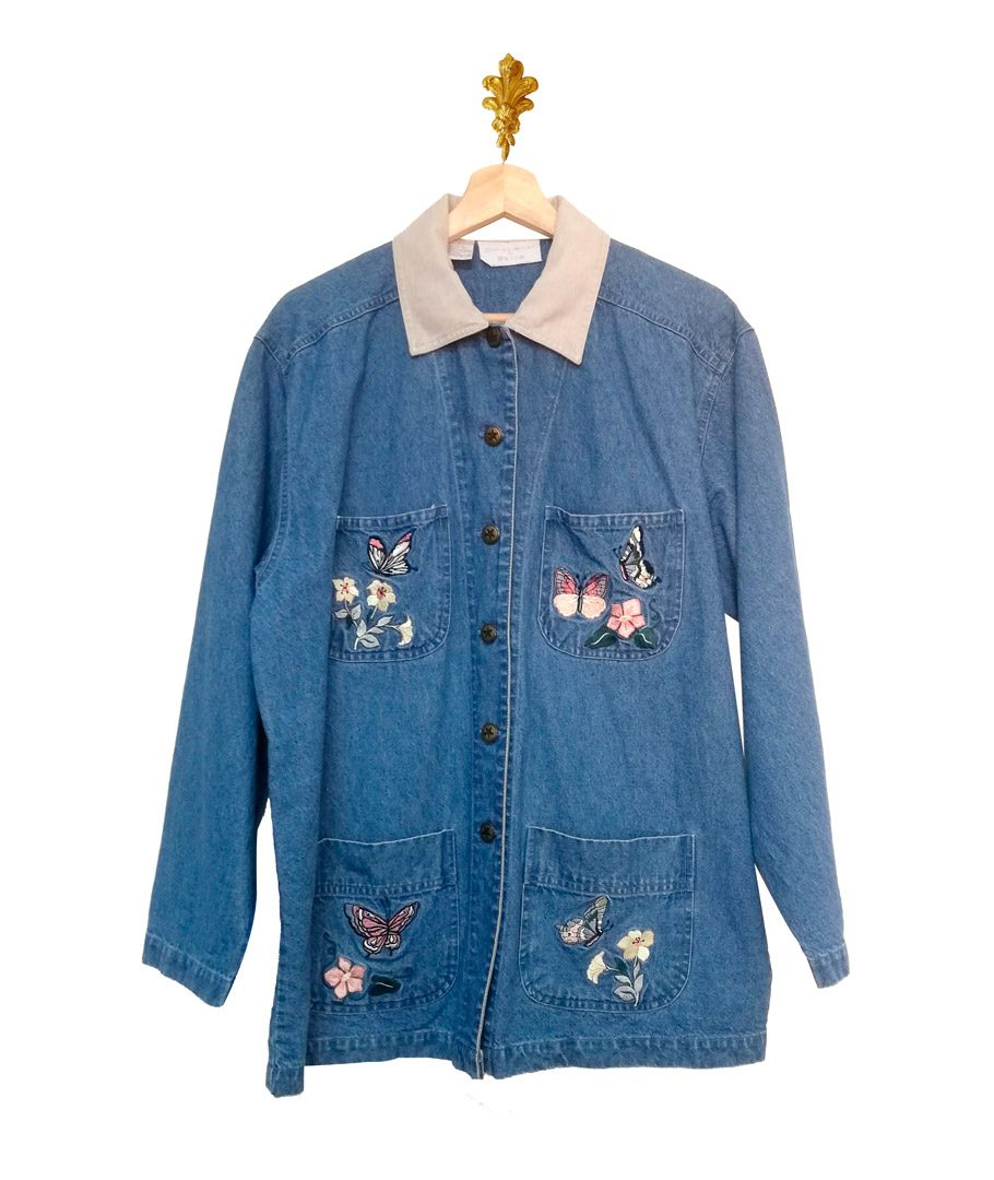 Chaqueta Blue Jeans Bordada