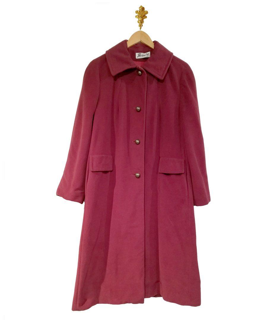 Abrigo largo color magenta