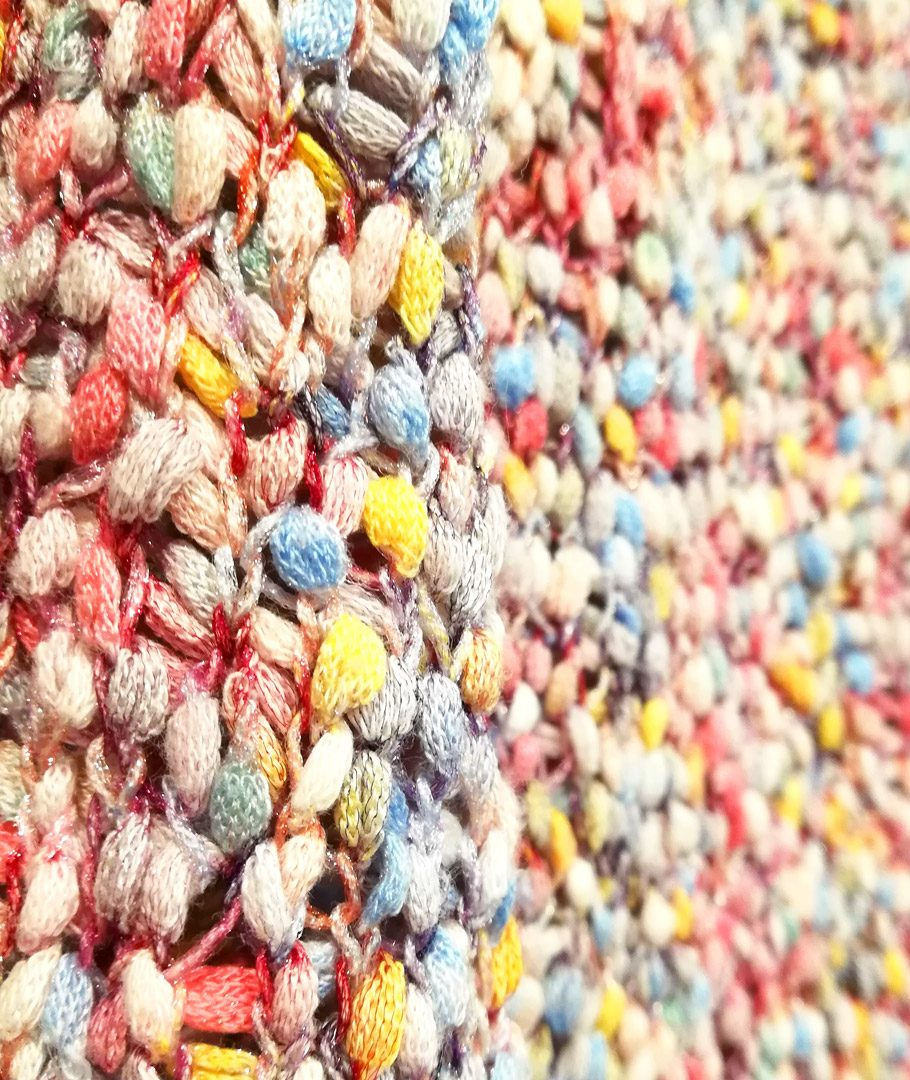 Chaleco tejido colores pastel
