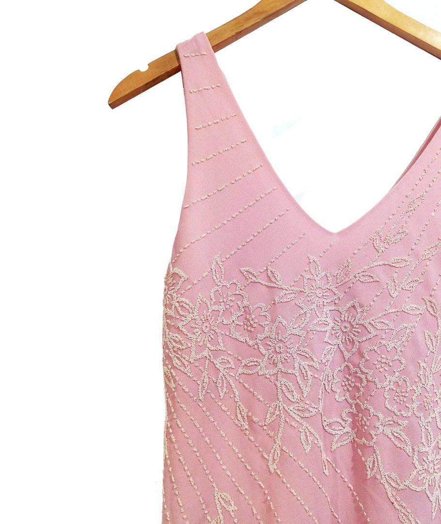 Vestido palo rosa elegante