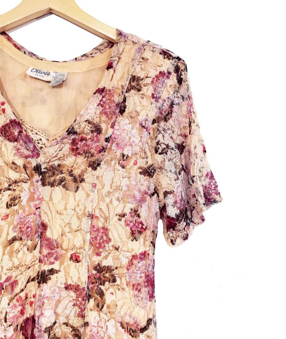 Vestido encaje floreado