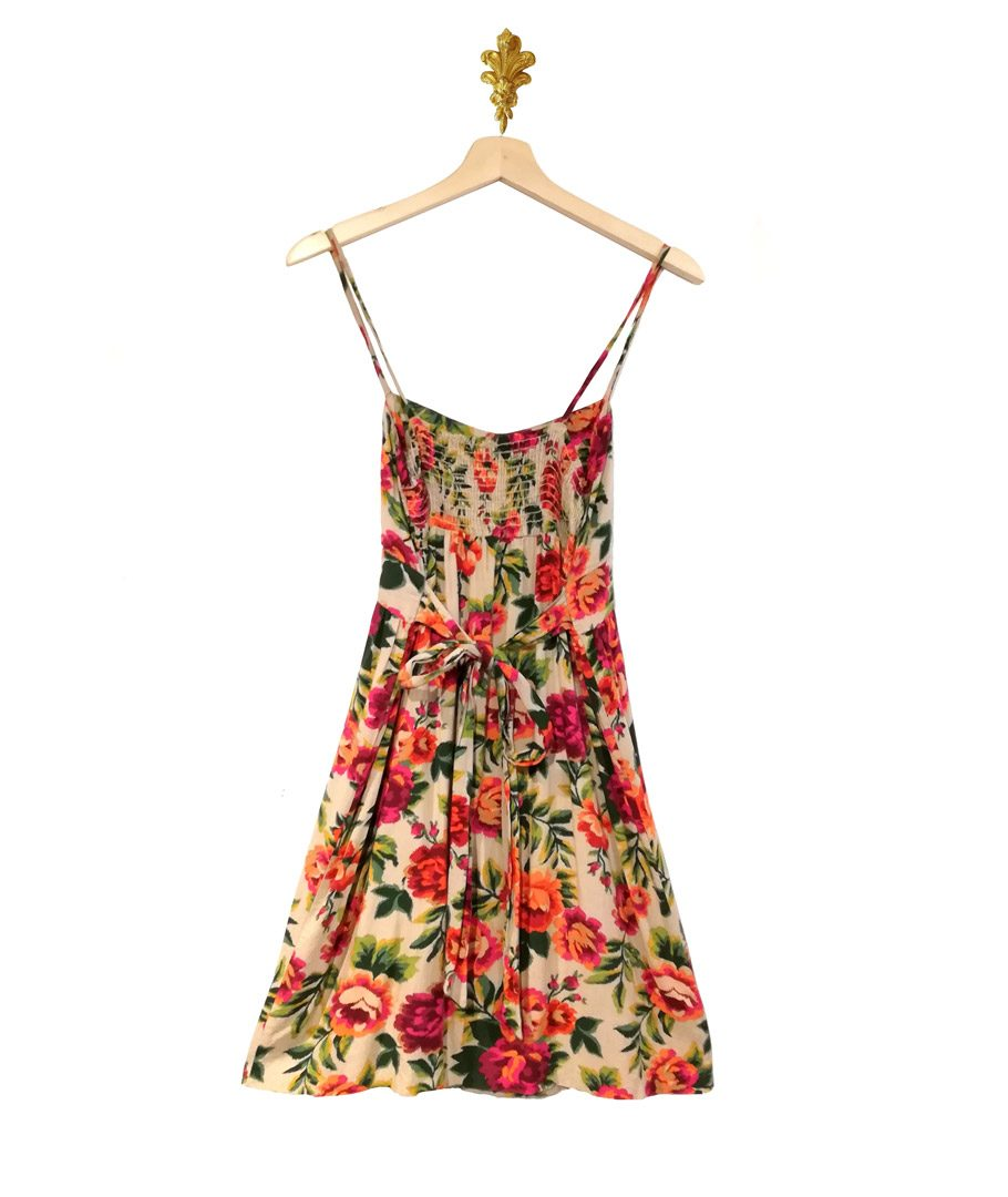 Vestido tiritas floreado