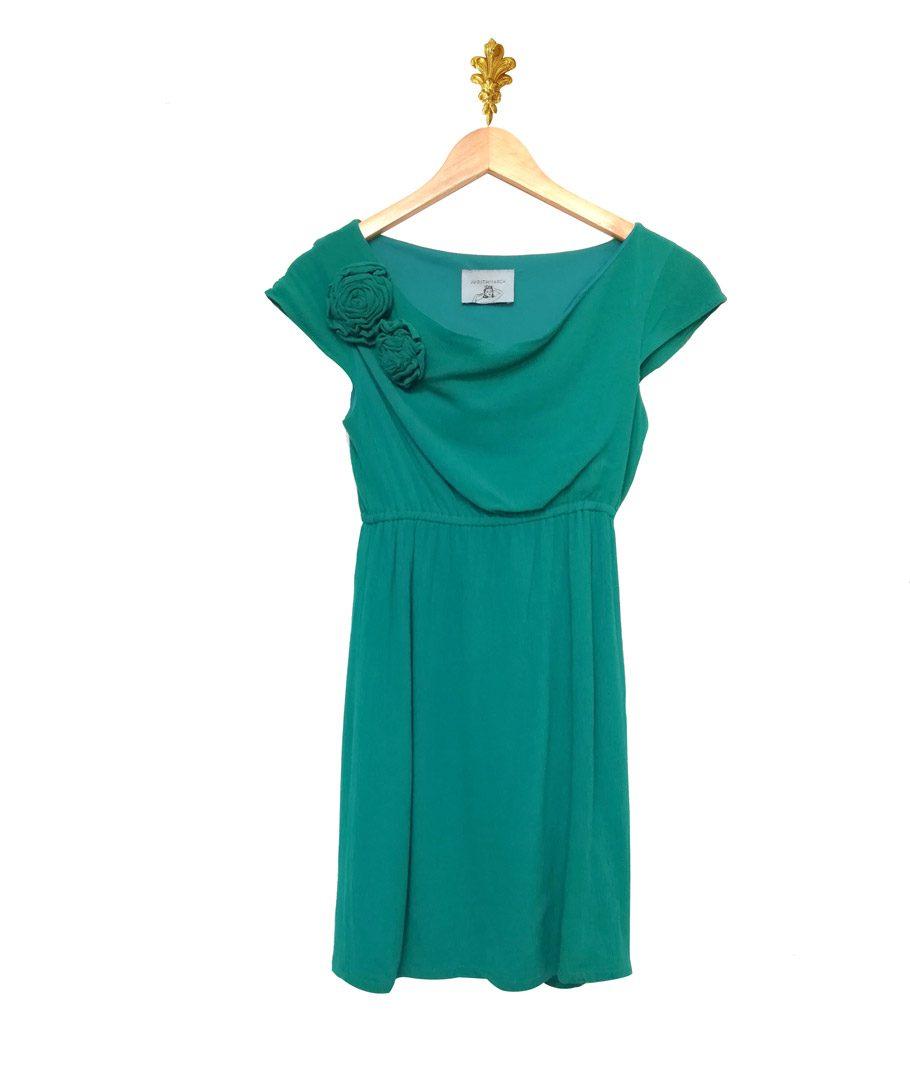 Vestido verde corto