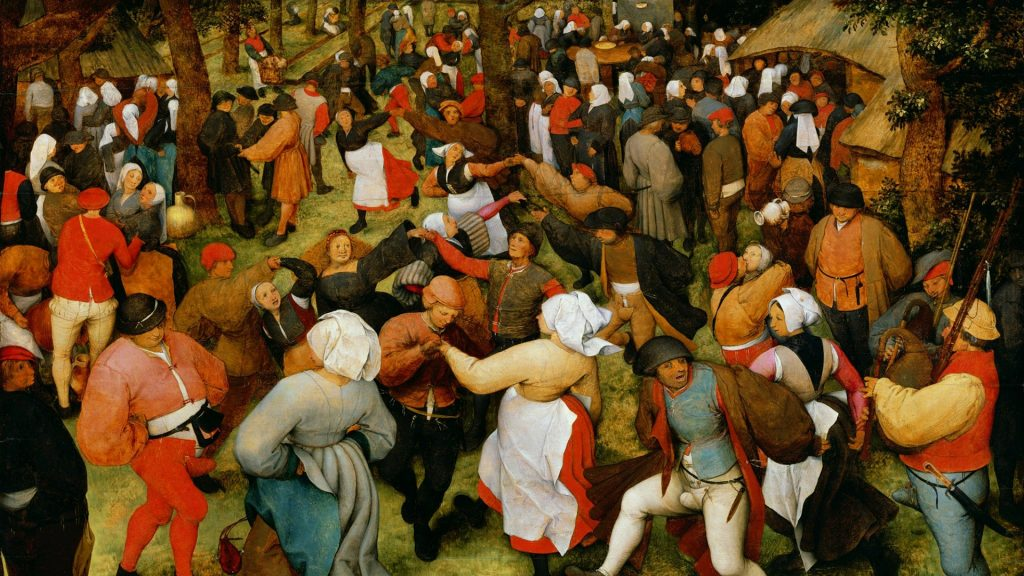 """La curiosa historia de la """"pandemia de baile"""" que azotó a Europa después de la Peste Negra"""